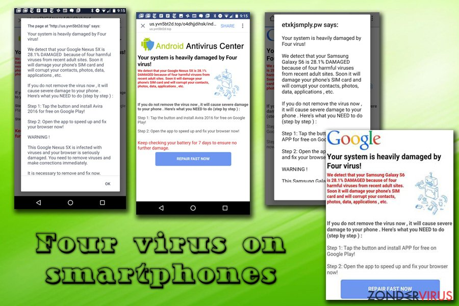 Four virus op Android en iPhone