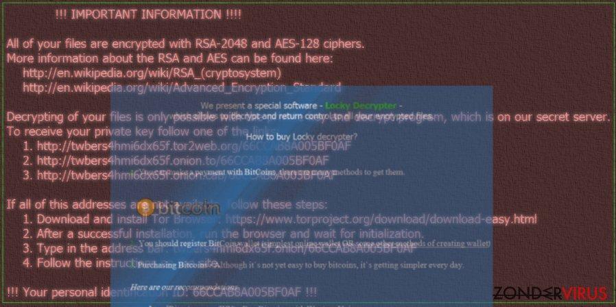Zzzzz gijzelsoftware-virus snapshot