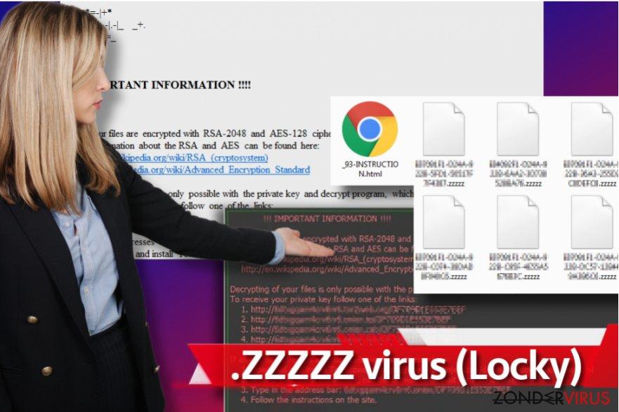 Zzzzz gijzelsoftware-virus